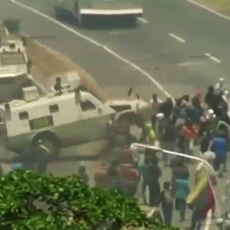 OVER THE EDGE: Government Tanks PLOW Into Crowd of Anti-Maduro Protesters During Venezuela Uprising