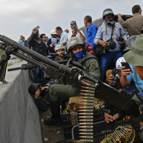 CARACAS UPRISING: Maduro Says 'Military Traitors' Attempting a Coup in Venezuela's Capital
