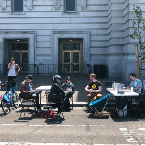 SAN FRAN CHAOS: Businesses Using 'PARKING SPOTS' for Office Space as Rents Skyrocket