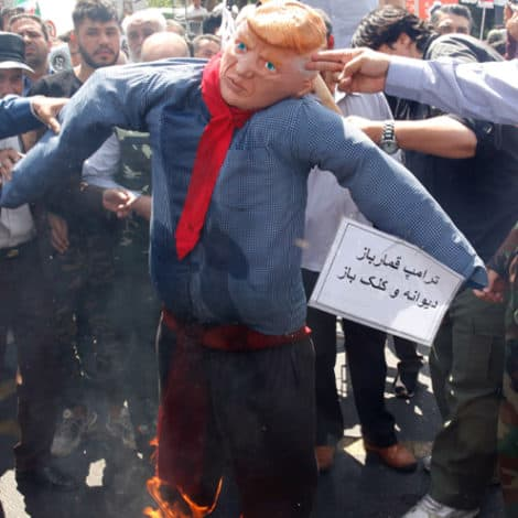RAGE: Thousands in Iran, Iraq Celebrate 'Jerusalem Day' by 'Hanging Trump,' Desecrating US Flags