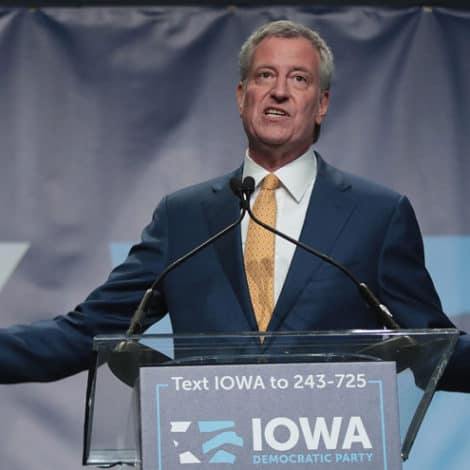 BILL'S VERY BAD DAY: NYC's De Blasio GETS ZERO VOTES, 0.00% in New Iowa Poll