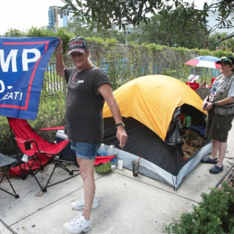 'LIKE A ROCK STAR': Trump Supporters Set up Campers, Coolers, Tents TWO DAYS Before Rally