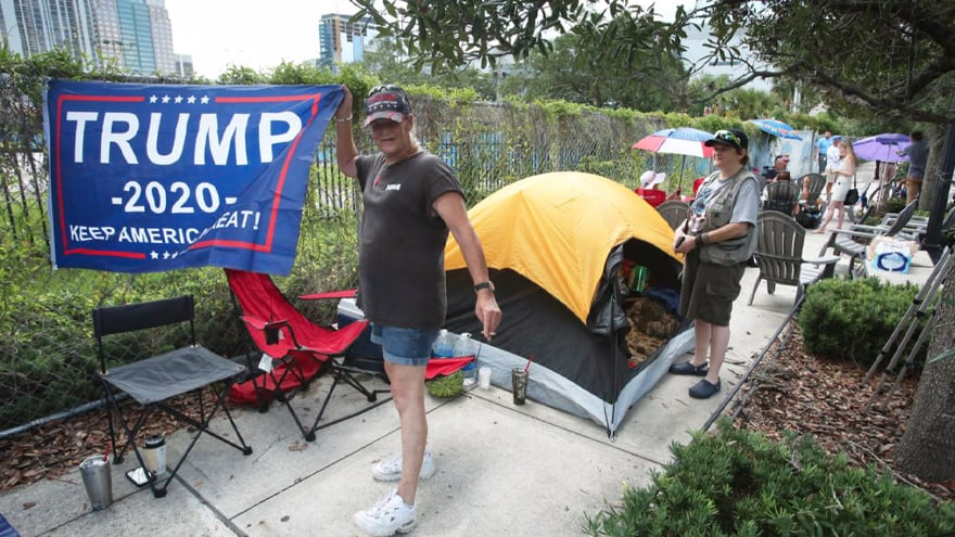 Partner Content - 'LIKE A ROCK STAR': Trump Supporters Set up Campers, Coolers, Tents TWO DAYS Before Rally