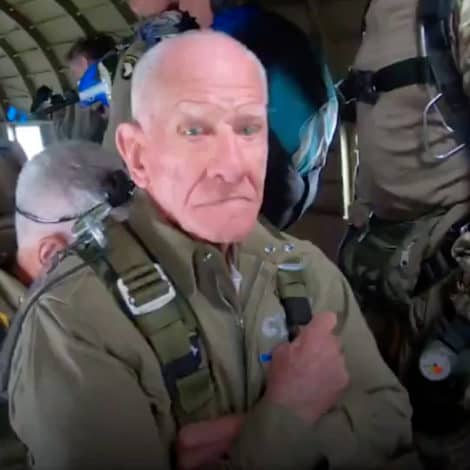 AMERICAN HERO: Watch This 97-Year-Old Paratrooper Recreate His D-DAY JUMP 75 Years Later