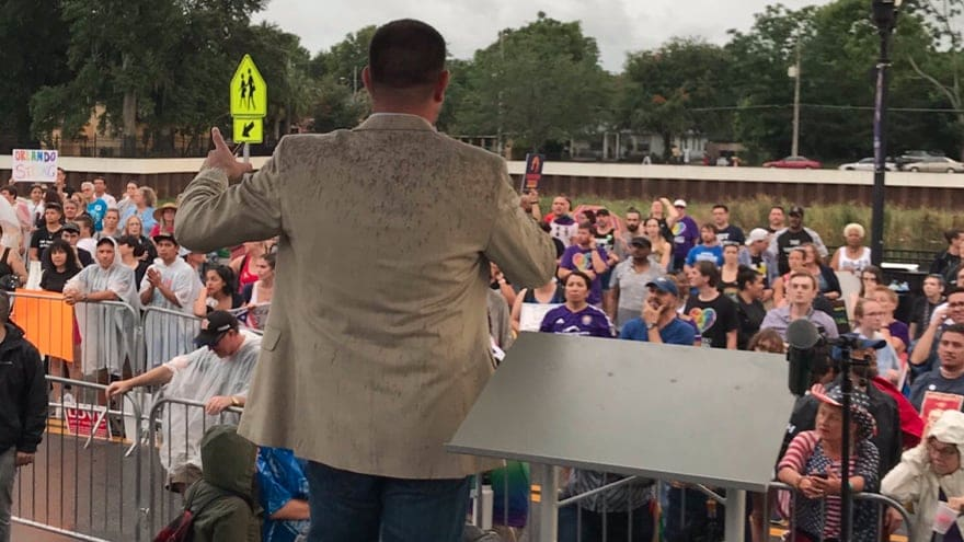Partner Content - LOW ENERGY: Florida Dems Hold 'Dump Trump Rally' in Orlando to 'Hundreds' of Supporters