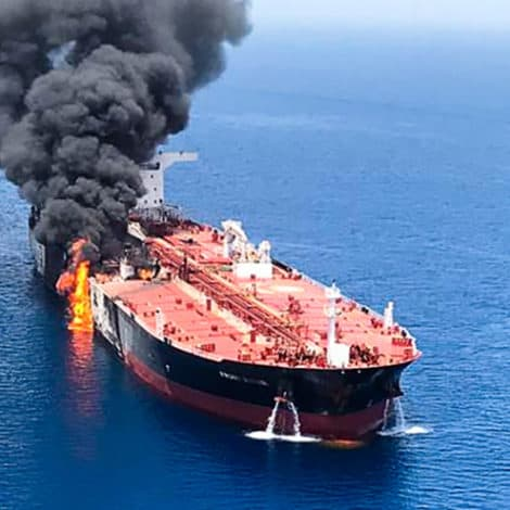 POSSIBLE TORPEDO ATTACK: Two Oil Tankers Severely Damaged in Gulf of Oman, Crew Evacuated