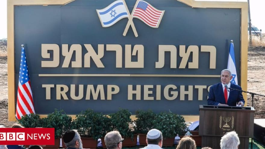 Partner Content - TRUMP HEIGHTS: Netanyahu Names New Town in President Trump's Honor in Israel