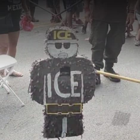 ANTI-ICE: Backlash Builds After Children 'SMASH' Piñata Dressed as ICE Agent at Chicago Block Party