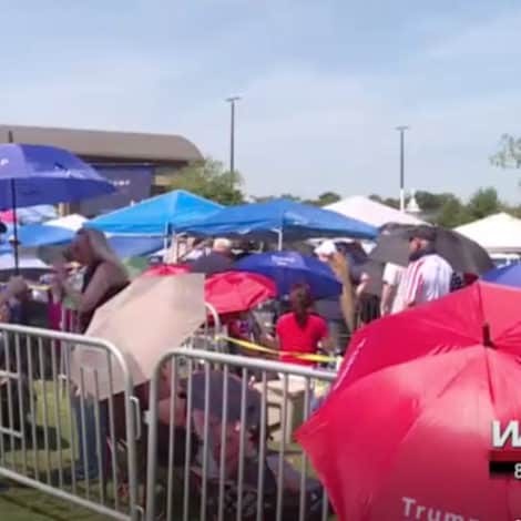 MAGA COUNTRY: Trump Supporters Line-Up at 4AM with Tents, Coolers for MAGA Rally in North Carolina