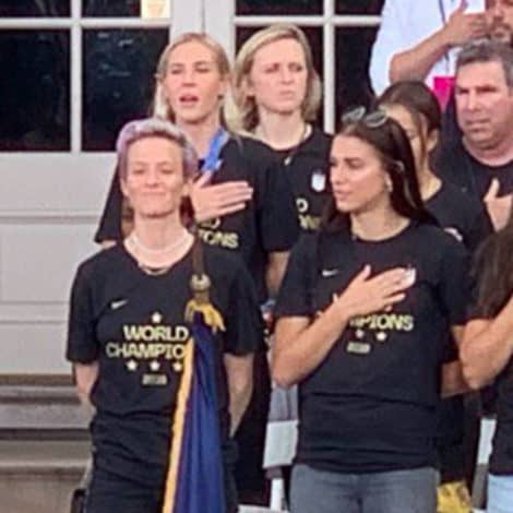 SOCCER SHOCKER: World Cup Star Megan Rapinoe PROTESTS as NYPD Officer Sings US Anthem