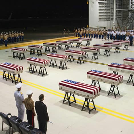 COMING HOME: Remains of 22 US Soldiers Killed in Brutal WWII Battle Return to USA