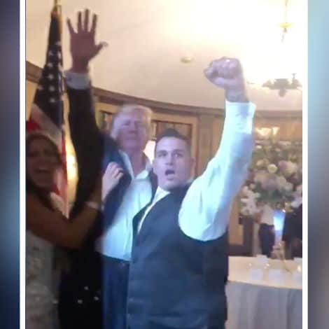 WEDDING CRASHER: President Trump Surprises 'MAGA' Themed Wedding, Crowd Erupts in 'USA' Chant