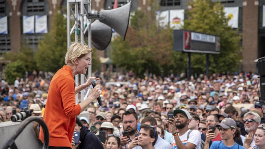 Partner Content - WARREN ASCENDING: New Poll Shows Elizabeth Warren ON TOP in Iowa by Doub...