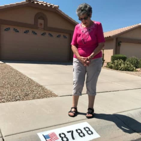 OLD GLORY DENIED: 82-Year-Old Grandmother Told to Remove US Flag Painting from Her Property