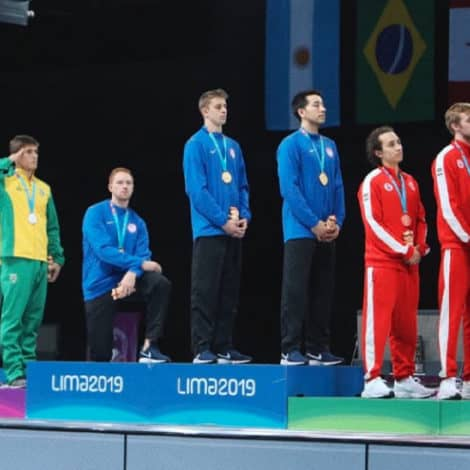 PODIUM PROTEST: American Fencer Kneels During US Anthem at Pan-Am Games Ceremony
