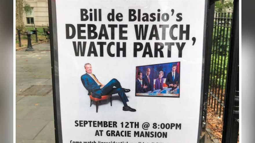 Partner Content - LIVE FROM NY! New Posters TRASH De Blasio's Campaign, Invites Voters to ...