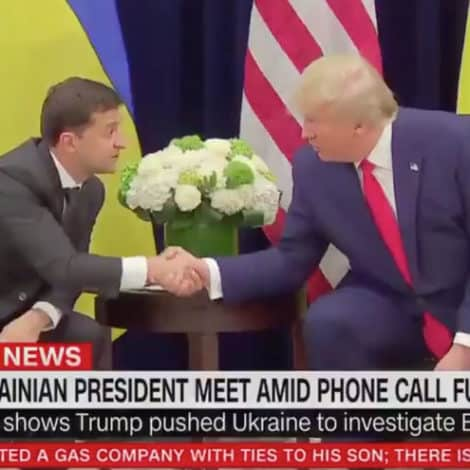 UKRAINE PRESIDENT ON TRUMP: 'We Had a Great Phone Call, Nobody Pushed Me, It Was Normal'
