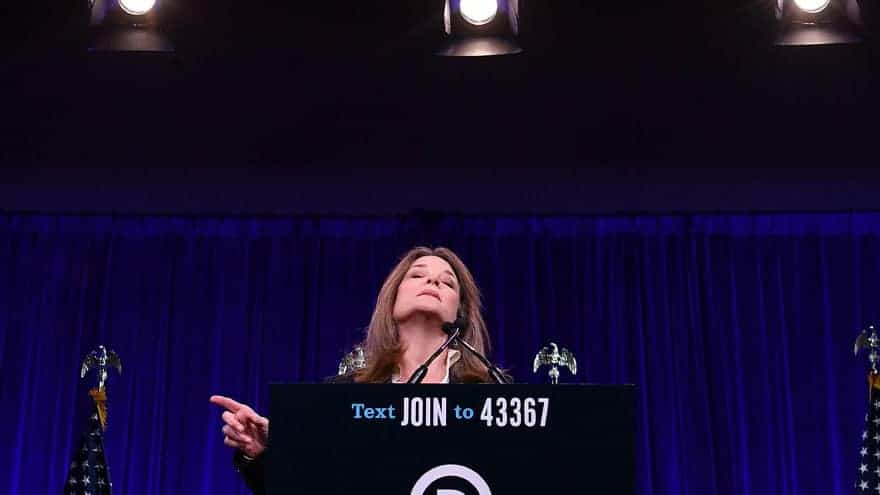 Partner Content - DARK FORCES: Marianne Williamson Bizarrely Claims Trump 'Pardoned Charle...