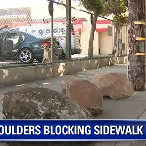 GETTING WORSE: San Fran Neighborhood Installs 'Boulders' to Keep Homeless from Erecting Tent Cities
