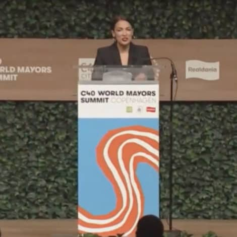 NO VIDEO CALL? Backlash Builds as AOC Flies to DENMARK to Deliver 14-Minute Climate Speech