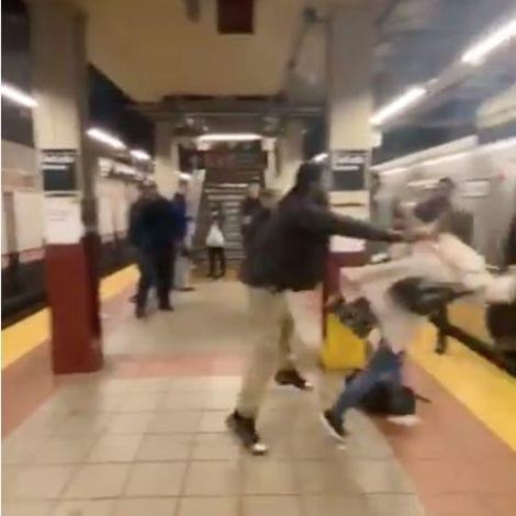 OUT OF CONTROL: Suspect Randomly Attacks Woman on NYC Subway Platform, Throws Her into Train