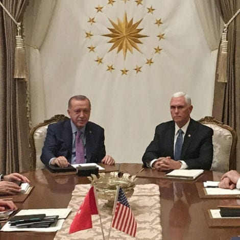Pence, Pompeo Announce New Turkey-Syria Cease Fire Agreement