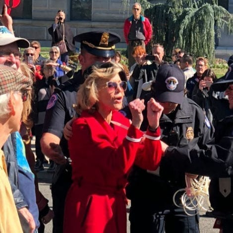 DEVELOPING: 81-Year-Old Actress Jane Fonda Arrested in DC During Climate Protest at US Capitol