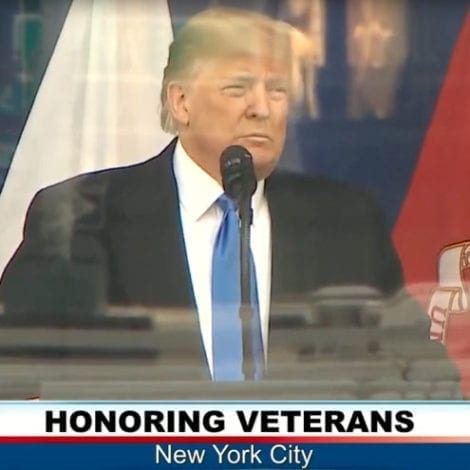 WATCH LIVE: President Trump Speaks at New York City's Veteran's Day Parade