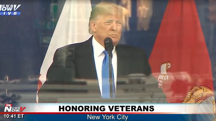 Partner Content - WATCH LIVE: President Trump Speaks at New York City's Veteran's Day Parade