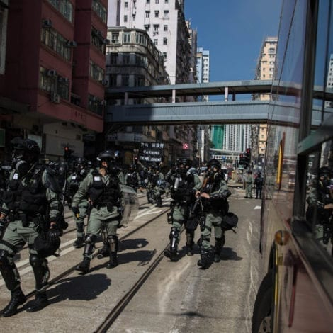 HONG KONG ERUPTS: Police Open-Fire on Protesters, One Demonstrator 'Set on Fire'