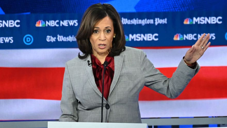 Partner Content - TAXPAYERS' EXPENSE: Kamala Harris Brags About Making '$0 For My Entire C...