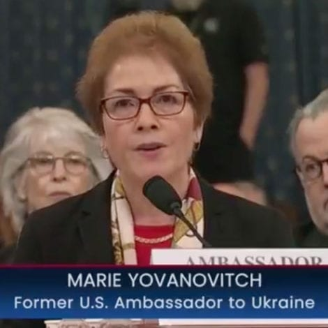SIMPLE QUESTION: Yovanovitch Says 'No' When Asked if She Has 'Any Information' on Criminal Activity