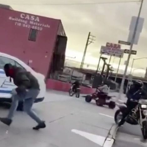 LAWLESS in NYC: Group of Suspects on Dirt Bikes Circle, Taunt NYPD at NYC Gas Station