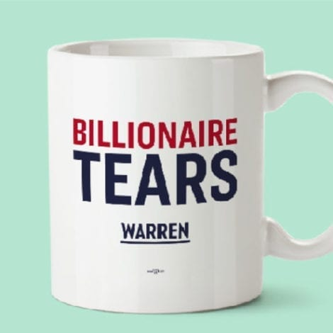 BACKLASH: Elizabeth Warren's 'Billionaire Tears' Campaign Merchandise Sparks Criticism