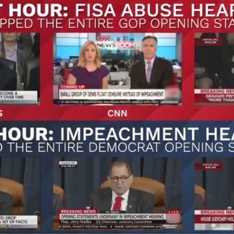 BIAS ON DISPLAY: Time-Lapse Footage Shows CNN Skipping Lindsey Graham's Opening Statement