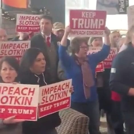 THE PEOPLE REACT: Pro-Trump Protests Break-Out at Town Hall After Democrat Backs Impeachment