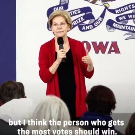 WARREN: 'I Want to be the Last American President Elected by the Electoral College'