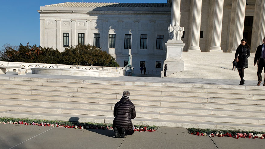 Partner Content - MARCH FOR LIFE: Pro-Life Activists Leave 3,000 Flowers on Steps of Supre...