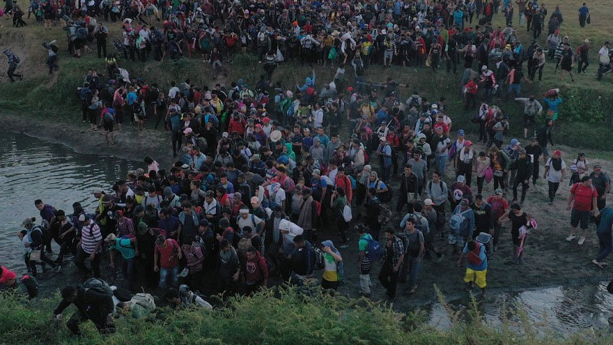 Partner Content - ANOTHER CARAVAN: New Migrant Caravan Crosses into Mexico, Heads Towards ...