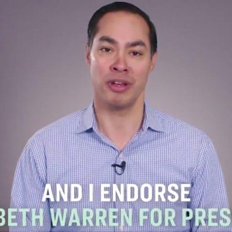 CASTRO BACKS WARREN: Julian Castro Officially Endorses Elizabeth Warren for President