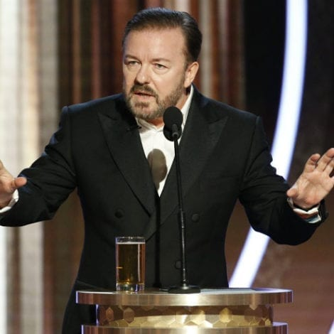 RICKY RIPS HOLLYWOOD: Gervais Slams Elites, 'Know Nothing of the Real World,' Take Award and 'F*** Off'