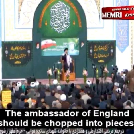 AYATOLLAH: UK Ambassador Should Be 'Chopped Into Pieces' for Attending Ukraine Jet Memorial