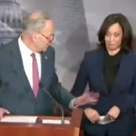 SO SAD, SO SOMBER: Schumer SCOLDS Kamala Harris for Laughing During Impeachment Briefing
