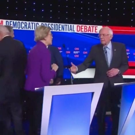 SOCIALIST STARE-DOWN: Warren Refuses to Shake Bernie's Hand After Accusations of 'Sexism'