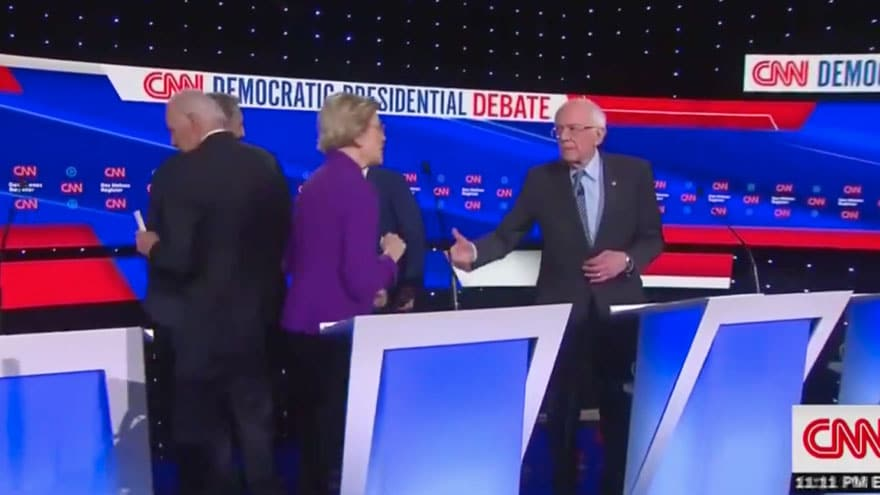 Partner Content - HOT MIC! Warren Rips Bernie After Debate, 'You Just Called Me a Liar on ...