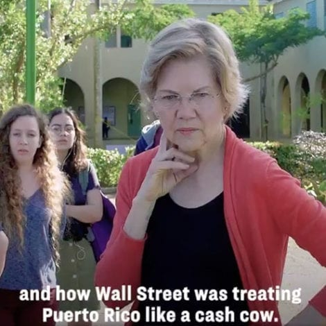 ADD IT TO THE LIST: Elizabeth Warren Says Wall Street Treats Puerto Rico Like 'Cash Cow,' Wants Debt Relief