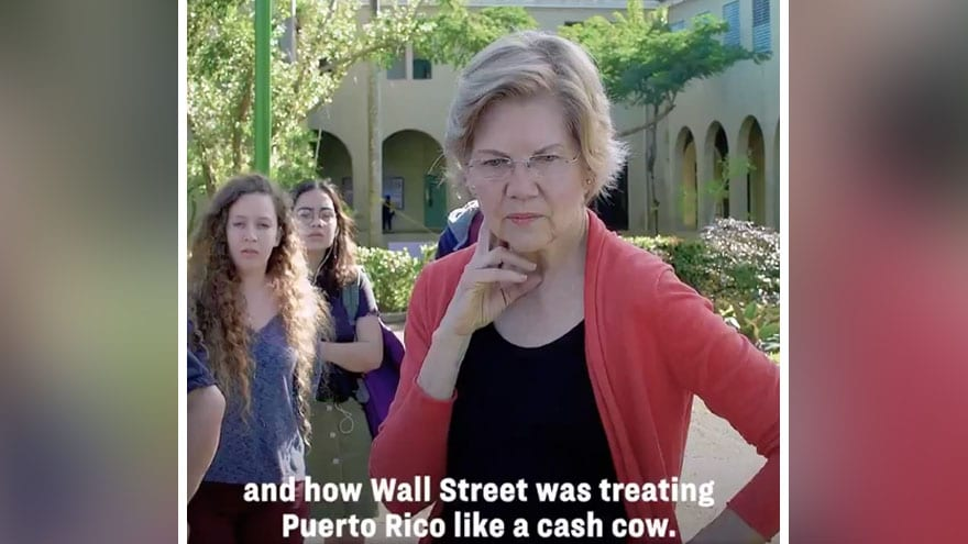 image for ADD IT TO THE LIST: Elizabeth Warren Says Wall Street Treats Puerto Rico...
