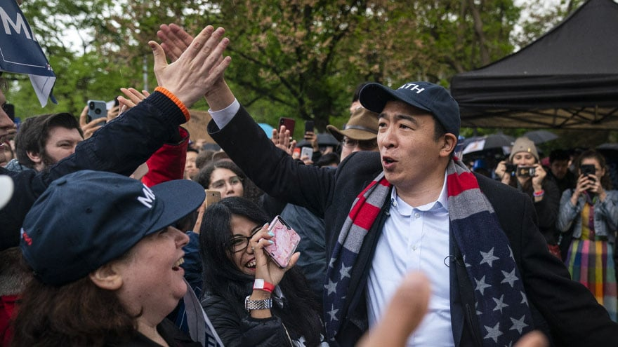 image for THAT WAS FAST: CNN Hires 2020 Democrat Andrew Yang as Newest Political C...