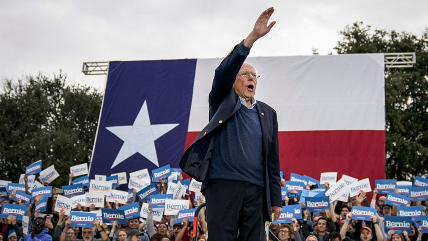 image for BERNIE in TEXAS: 'Undocumented' Immigrants 'Entitled to Basic Human Righ...