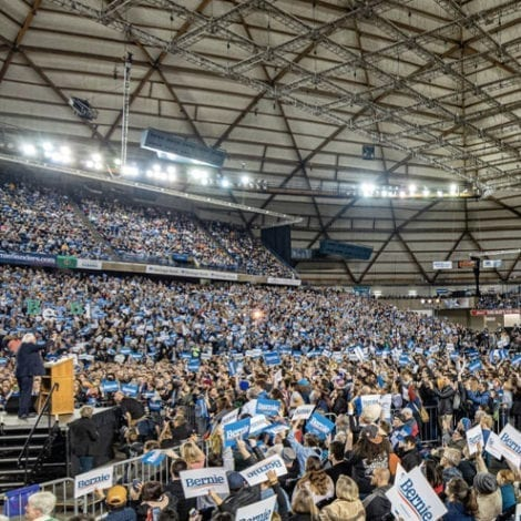 TACOMA BERNING: Sanders Addresses Crowd of 17,000 SUPPORTERS in Washington State